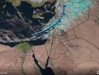 تحديث...صور الأقمار الأصطناعية متابعة المنخفض الجوي
