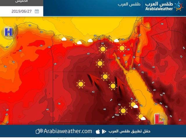 مصر | ذروة تأثير الموجة الحارة اليوم الخميس وطقس شديد الحرارة في مختلف المناطق