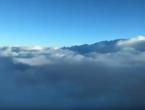 غيوم المنخفض الجوي من الدرجة الثانية فوق سماء العاصمة عمان صباح الثلاثاء 21/1/2020