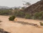 Video ... Civil Defense in Rustaq saves a citizen who was attacked by torrents