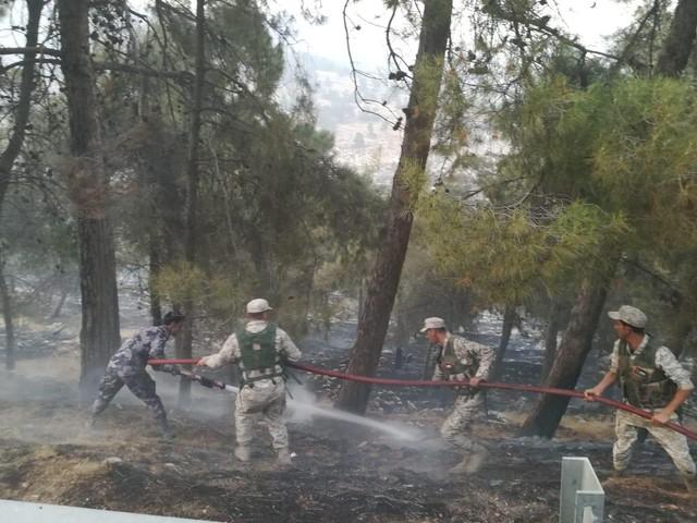 بيان صادر عن الدفاع المدني حول حريق ثغرة عصفور