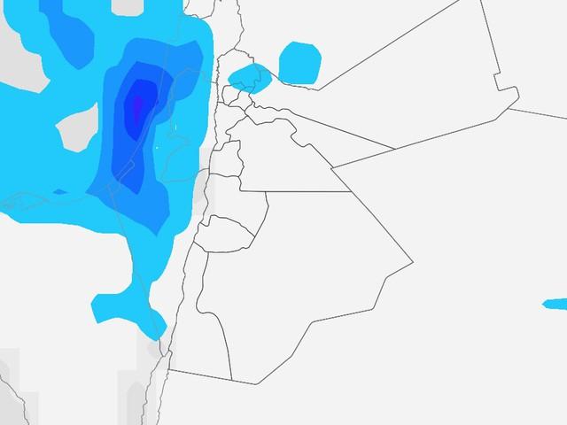 إستمرار هطول زخات من المطر على فترات نهار يوم الإثنين وتراجع فرصتها خلال ساعات المساء والليل