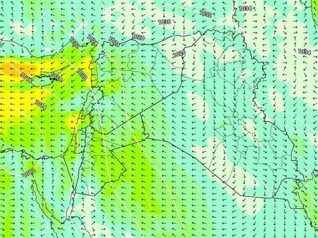 إرتفاع تدريجي على درجات الحرارة مع طقس مُستقر ونشاط تدريجي على الرياح الشرقية حتى الثلاثاء