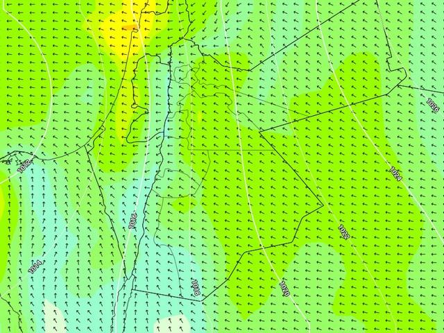 نشاط تدريجي على سرعة الرياح الشرقية لتصل ذروة نشاطها يوم الثلاثاء