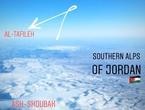 صورة رائعة من الطائرة لثلوج الشوبك والطفيلة