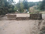 Because of the high water levels ... The Burma road in Jerash was closed