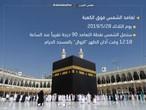 بث مُباشر .. شاهد اختفاء ظل الكعبة تماما بسبب تعامد الشمس فوق بيت الله الحرام في مكة المكرمة