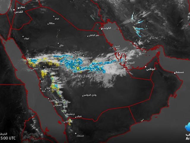 تحديث الساعة 3 عصراً - سحب رعدية غرب المملكة وأمطار بأجزاء من المنطقة الوسطى