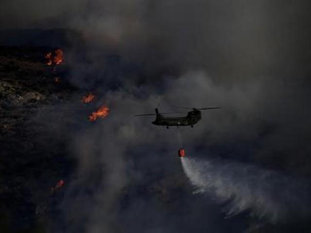 إعلان حالة الطوارئ بجزيرة كيثيرا اليونانية إثر اندلاع حريق غابات