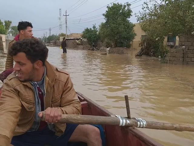 السيول تشرد الآلاف جنوبي العراق