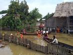 الفيضانات الموسمية تجبر الآلاف على ترك منازلهم في ميانمار