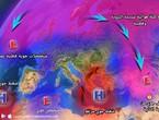منخفض جوي جديد وكتلة هوائية قطبية محتملة نهاية الأسبوع بأذن الله.